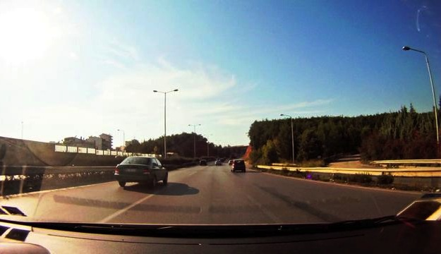 time-lapse drive from Thessaloniki to Paleos Panteleimonas, Greece