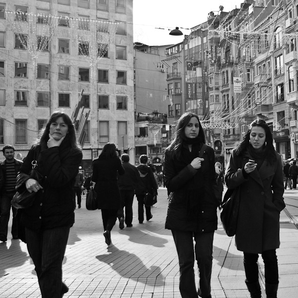 Women walking at Istanbul, Turkey