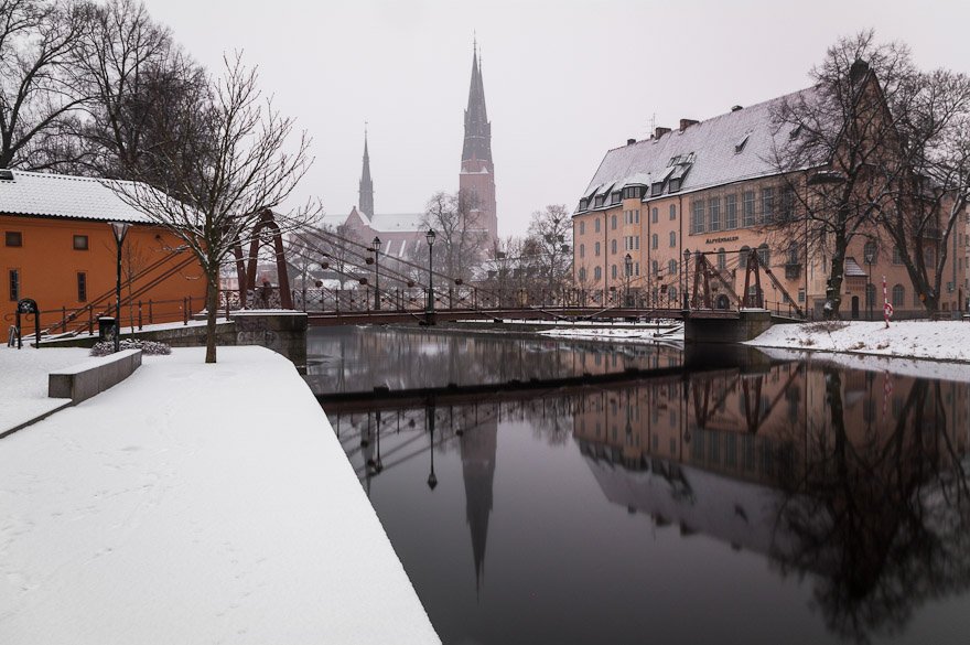 Snow in Uppsala, Sweden
